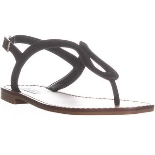 Steve Madden Takeaway Flat Thong Sandals, Black