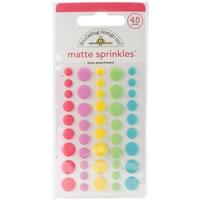 Doodlebug Sprinkles Adhesive Matte Enamel Dots 45/Pkg-Cream & Sugar Love