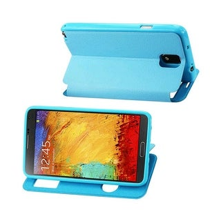 Reiko - Fitting Case Lychee Pattern for Samsung Galaxy Note 3 - Blue