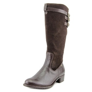 Hush Puppies Leslie Chamber Wide Calf Round Toe Suede Knee High Boot