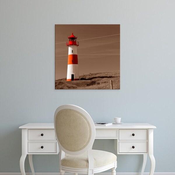 Easy Art Prints PhotoINC Studio's 'Red & White Lighthouse' Premium Canvas Art