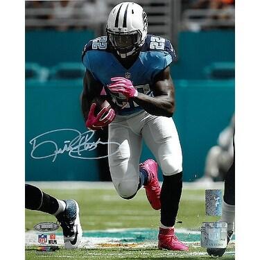 timeless design 472b6 09867 Derrick Henry signed Tennessee Titans 8x10 Photo blue jerseywhite sig Henry  TriStar Holograms