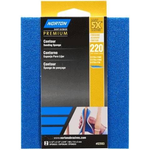 Norton 07660782083 5X Contour Sanding Pads Extra Fine, 220 Grit
