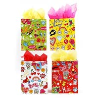 Extra Large Girls Party Theme Matte Finish Gift Bags - 108 Units