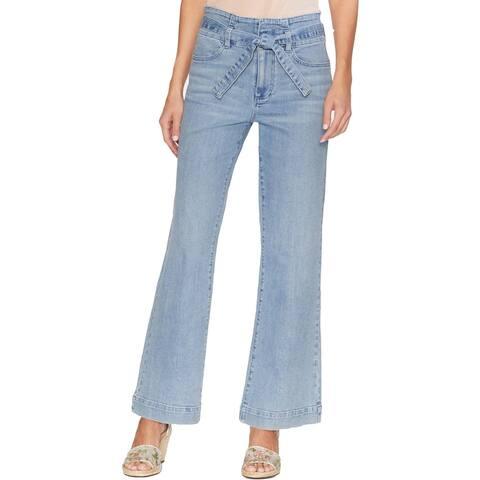 Vince Camuto Womens Wide Leg Jeans Denim High Rise