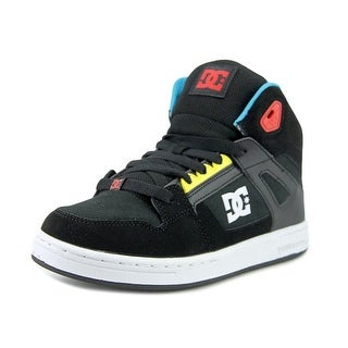 DC Shoes Rebound Youth  Round Toe Leather Black Skate Shoe