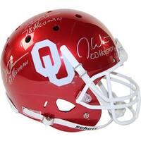 Steve Owens Billy Sims  Jason White Triple Oklahoma Sooners Full Size Replica Schutt Helmet w Heism