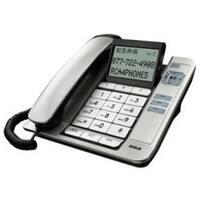 Silver Corded Desktop Phone Caller Id Speaker
