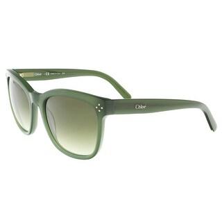 Chloe CE692/S 315 Green Rectangle Sunglasses - 55-20-135