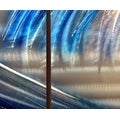 Statements2000 Blue / Silver Beach-Inspired Tropical Metal Wall Art Painting by Jon Allen - Shoot the Curl - Thumbnail 7