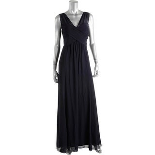Lauren Ralph Lauren Womens Evening Dress V-NECK Ruched