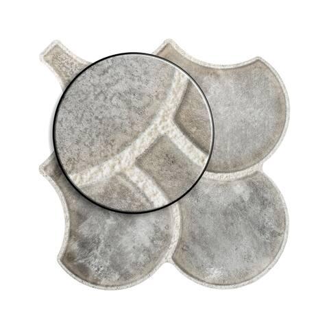 "SomerTile Scala Granada Grey 14.5"" x 16.13"" Porcelain Floor and Wall Tile"