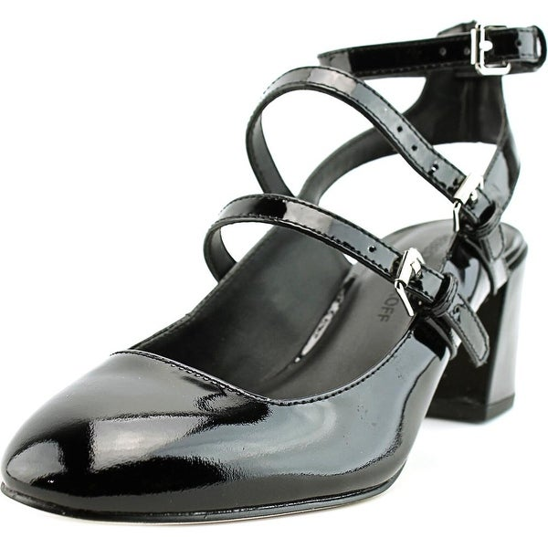 Rebecca Minkoff Brandy Women Round Toe Patent Leather Black Mary Janes