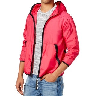 G-STAR RAW NEW Pink Men Size Medium M Windbreaker Strett Gymbag Jacket