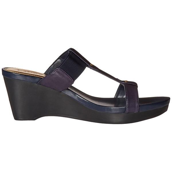 LAUREN by Ralph Lauren Womens Rue Leather Open Toe Casual Platform Sandals