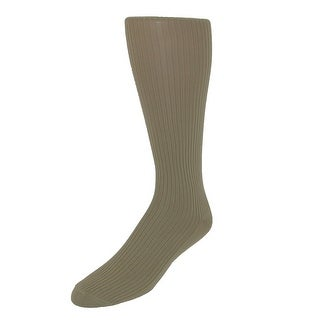 Jefferies Socks Men's Microfiber Over the Calf Dress Socks (2 Pair Pack) (Option: Khaki)