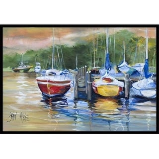 Carolines Treasures JMK1086MAT Up The Creek Sailboat Indoor & Outdoor Mat 18 x 27 in.