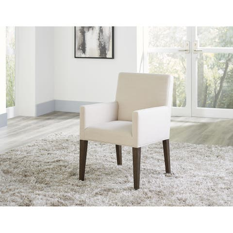 Modesto Upholstered Arm Chair in French Roast