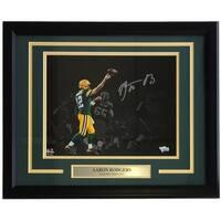 Aaron Rodgers Signed Framed 11x14 Green Bay Packers Spotlight Photo Fanatics