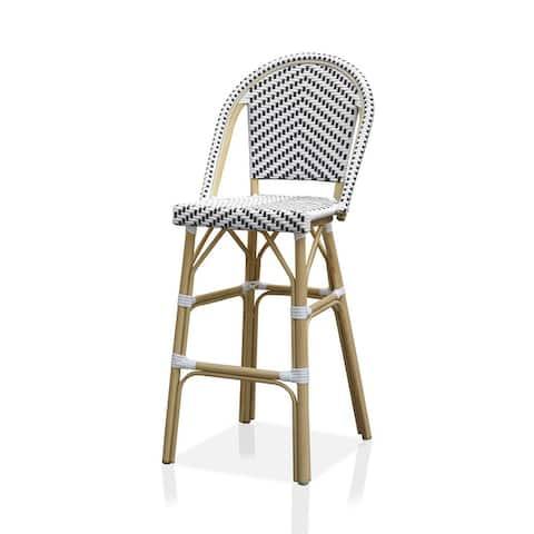 Furniture of America Ariel Natural Tone Patio Bar Chairs (Set of 2)