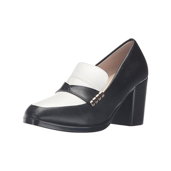 Cole Haan Womens Mazie Loafer Heels Colorblock Stacked - 7 medium (b,m)