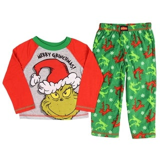 The Grinch Pajamas Kids Toddlers Merry Grinchmas Sleep Set