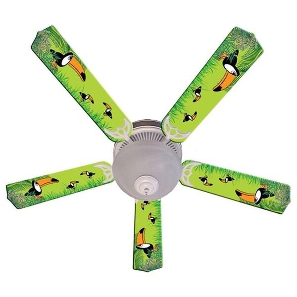Green Toucan Designer 52in Ceiling Fan Blades Set - Multi