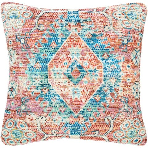 The Curated Nomad Powers Vintage Medallion 18-inch Throw Pillow with Poly or Down Fill