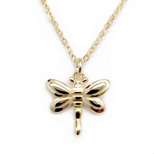 "Julieta Jewelry Dragonfly Gold Charm 16"" Necklace"