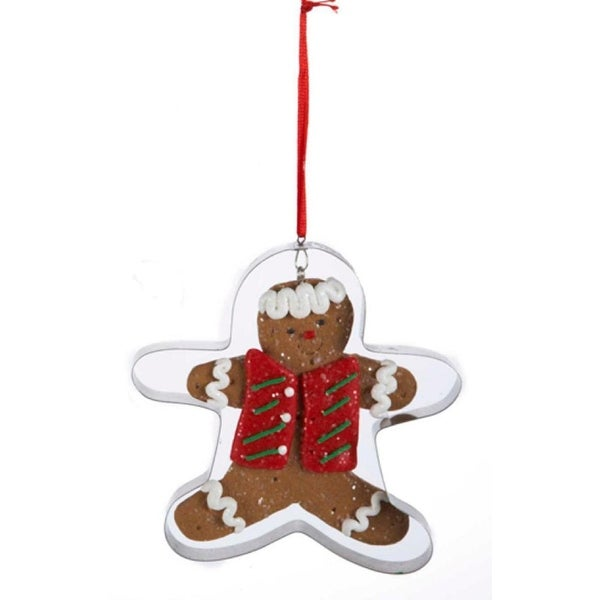 4 gingerbread kisses cookie cut out christmas ornament - Overstock Christmas Decorations