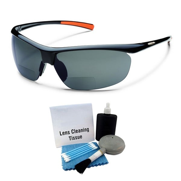 1e26d6d29c Shop Suncloud Zephyr Polarized Sunglass  Black  Gray Polycarbonate    Cleaning Kit - Free Shipping Today - Overstock - 26482265
