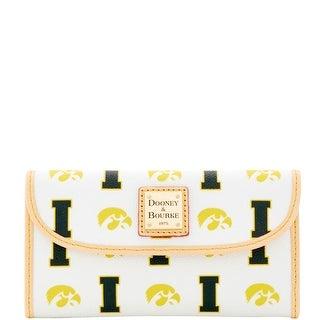 Dooney & Bourke NCAA Iowa Continental Clutch (Introduced by Dooney & Bourke at $128 in Jan 2016) - White