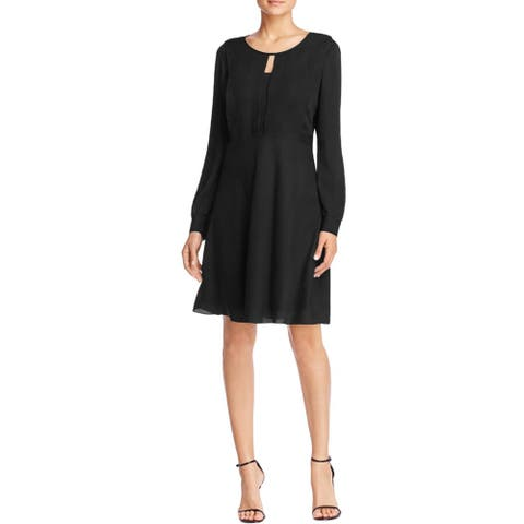 Finity Womens Cocktail Dress Cut Out Solid