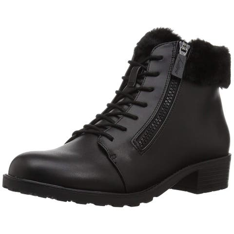 Trotters Womens Below Zero Leather Closed Toe Ankle Cold Weather Boots