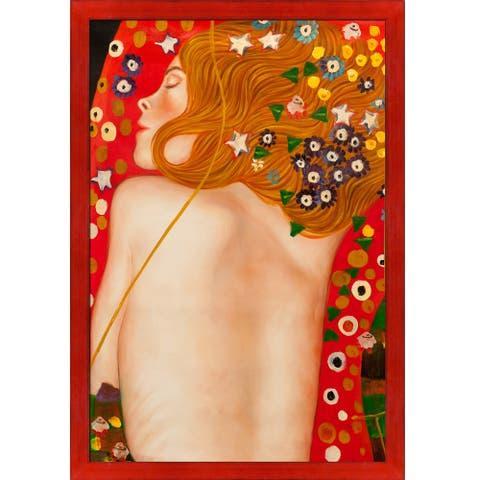Gustav Klimt 'Sea Serpents IV' (modest) Hand Painted Oil Reproduction