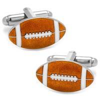 Football Cufflinks - Brown