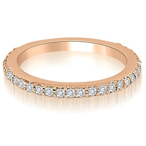 0.40 cttw. 14K Rose Gold Classic Round Cut Diamond Wedding Band