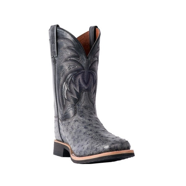 d596b5f74f3 Shop Dan Post Western Boots Mens Philsgood Broad Square Ostrich Gray - Free  Shipping Today - Overstock - 26858816