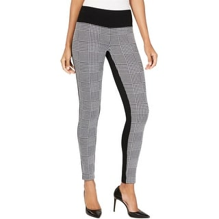 Link to I-N-C Womens Houndstooth Front Casual Leggings Similar Items in Pants