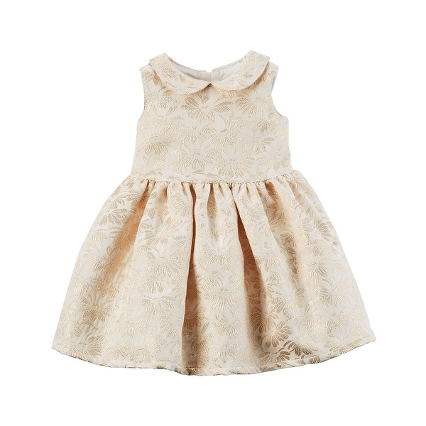 19f90c3f3b597 Shop Carter's Baby Girls' Jacquard Floral Woven Dress, Newborn - Free  Shipping On Orders Over $45 - Overstock - 25614230