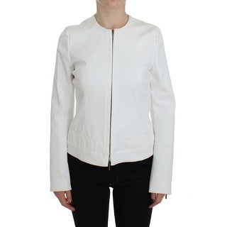 PLEIN SUD White Stretch Coat Jacket - it48-xl