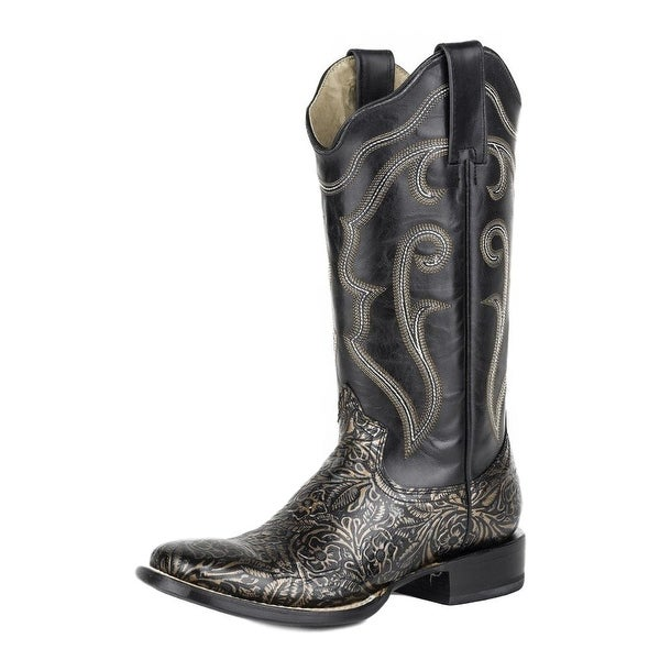 Roper Western Boots Womens Cushioned Insole Black
