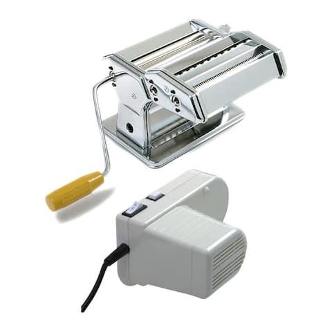 Norpro 1049 Pasta Machine (Silver) with Pasta Machine Motor