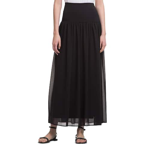 DKNY Womens Maxi Skirt Pleated Long - XL