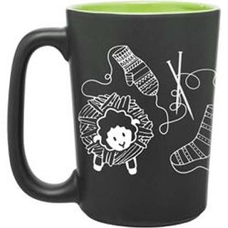 Green - Knit Happy Scribbles Mug 10Oz