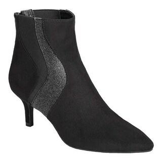 A2 by Aerosoles Women's Gramercy Park Ankle Boot Black Multi Faux Suede/Elastic