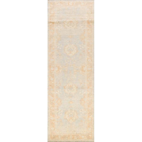 """Muted Traditional Oushak Turkish Oriental Wool Runner Rug Hand-knotted - 3'0"""" x 9'9"""""""