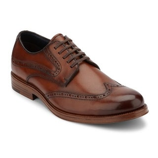 Dockers Mens Hanover Genuine Leather Lace-up Wingtip Brogue Oxford Dress