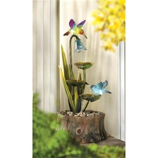 Zingz & Thingz Hummingbirds Haven Outdoor Water Fountain with Lights