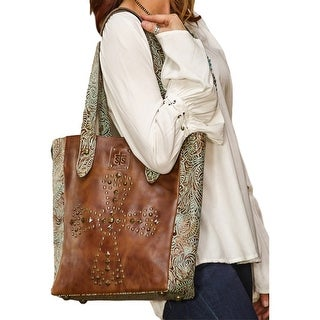 StS Ranchwear Western Handbag Womens Trinity Tote Brown STS33740 - Chestnut - One size